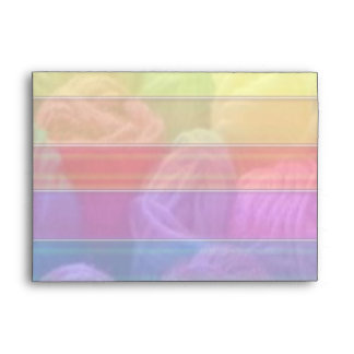Smooth Acrylic Plastic Look  - Color Stripes Envelope