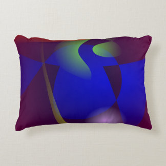 Smooth and Clear-Cut Abstract Painting Accent Pillow