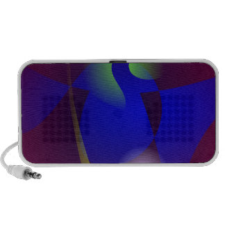 Smooth and Clear-Cut Abstract Painting iPhone Speaker