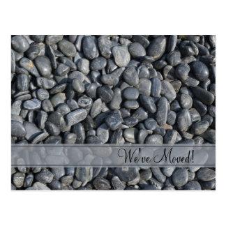 Smooth Black Pebbles Change of Address Postcard