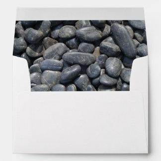 Smooth Black Pebbles Envelope