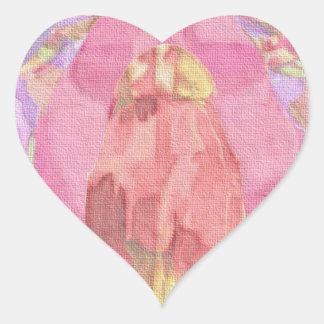 Smooth canvas heart sticker