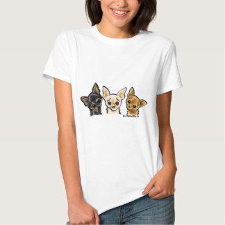 Smooth Chihuahua Trio Tshirts