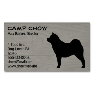 Smooth Chow Chow Silhouette Magnetic Business Card