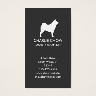 Smooth Chow Chow Silhouette Vertical Business Card