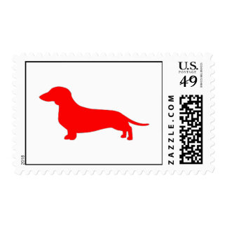 Smooth coat Red Dachshund Stamps