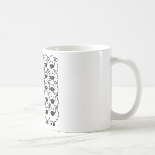 Smooth-Coated Border Collie in the Sheep Coffee Mugs