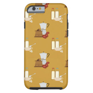 smooth coffee pattern tough iPhone 6 case