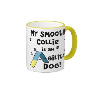 Smooth Collie Agility Dog Ringer Coffee Mug