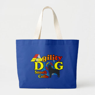 smooth collie agility shirts gifts large tote bag