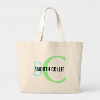 Smooth Collie Breed Monogram Design Jumbo Tote Bag