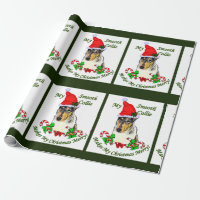 Smooth Collie Christmas Merry Wrapping Paper