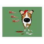 Smooth Collie Christmas Postcard