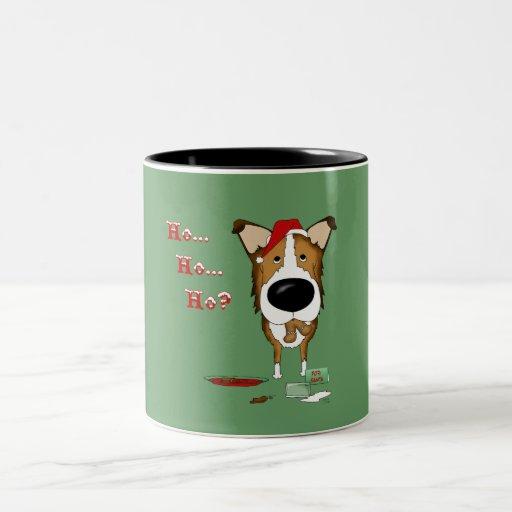 Smooth Collie Christmas Two-Tone Coffee Mug