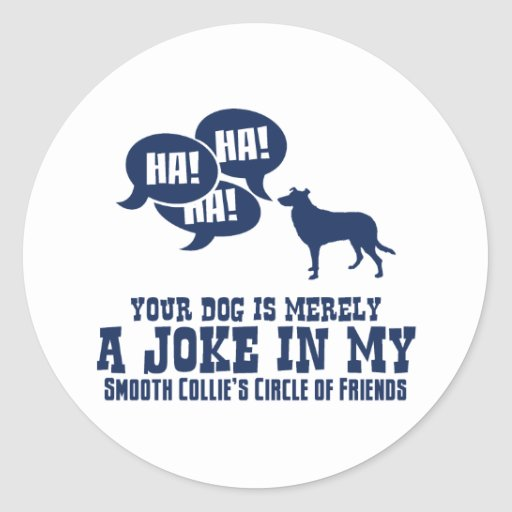 Smooth Collie Classic Round Sticker
