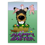 Smooth Collie Happy Easter Greeting Card