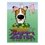 Smooth Collie Happy Easter Postcard