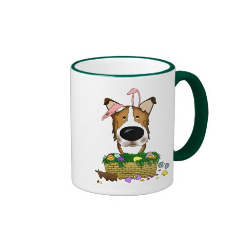 Smooth Collie Happy Easter Ringer Coffee Mug