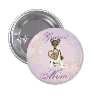 Smooth Collie Heart Mom Pinback Button