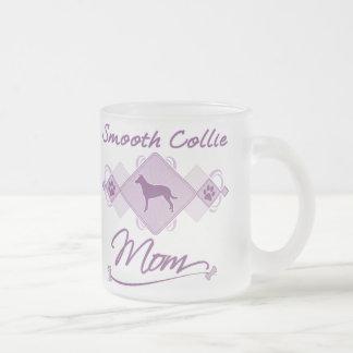 Smooth Collie Mom 10 Oz Frosted Glass Coffee Mug