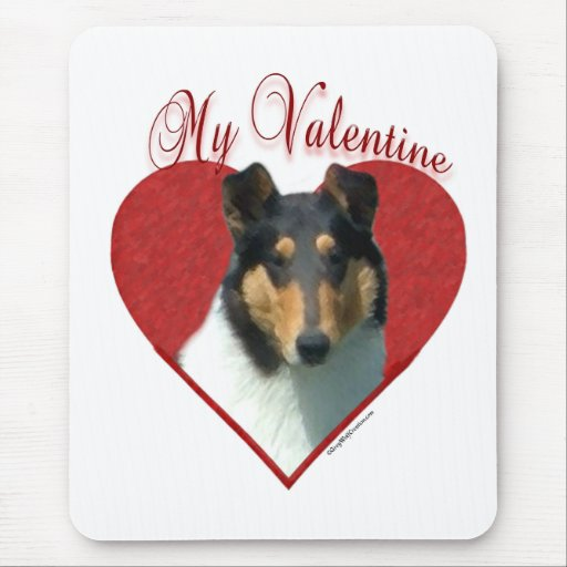 Smooth Collie My Valentine Mouse Pad