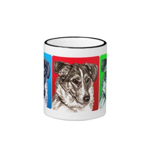 Smooth Collie Portrait x 3 Mug