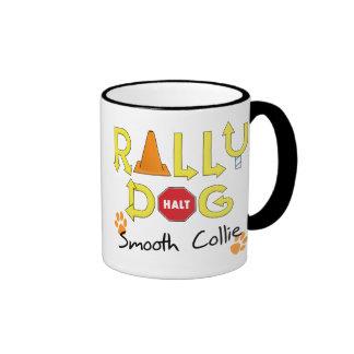Smooth Collie Rally Dog Ringer Coffee Mug