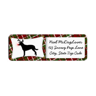 Smooth Collie Reindeer Christmas Return Address Label