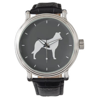 Smooth Collie Silhouette Watches