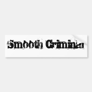 smooth criminal bumper sticker