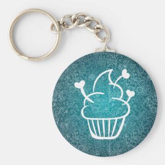 Smooth Cupcakes Minimal Basic Round Button Keychain