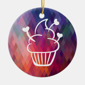 Smooth Cupcakes Minimal Double-Sided Ceramic Round Christmas Ornament