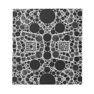 Smooth Fancy Blk&Wht Pattern Notepad