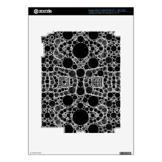 Smooth Fancy Blk&Wht Pattern Skin For iPad 3