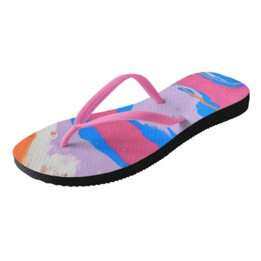 Beach Themed Smooth Flip Flops