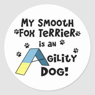 Smooth Fox Terrier Agility Dog Classic Round Sticker
