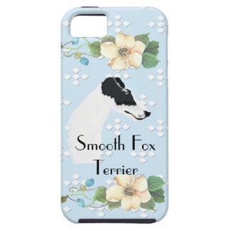 Smooth Fox Terrier - Blue w/White Diamond Design iPhone 5 Cover