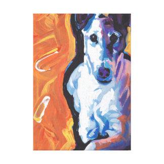 Smooth Fox Terrier Bright Pop Art Canvas Print