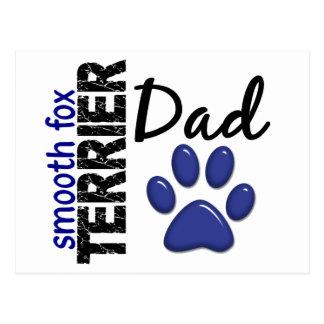 Smooth Fox Terrier Dad 2 Postcard