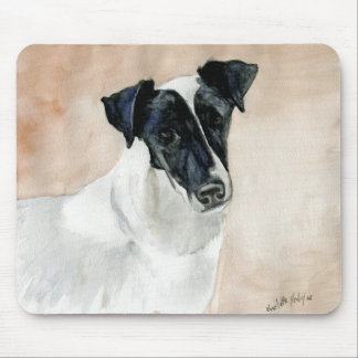 """""""Smooth Fox Terrier"""" Dog Art Mouse Pad"""