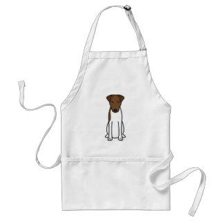 Smooth Fox Terrier Dog Cartoon Adult Apron