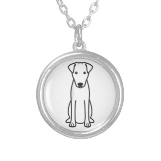 Smooth Fox Terrier Dog Cartoon Silver Plated Necklace