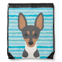 Smooth Fox Terrier Drawstring Backpack