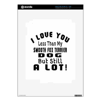 SMOOTH FOX TERRIER FUNNY DESIGNS iPad 2 DECALS