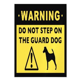 Smooth Fox Terrier Funny Guard Dog Warning Magnetic Card