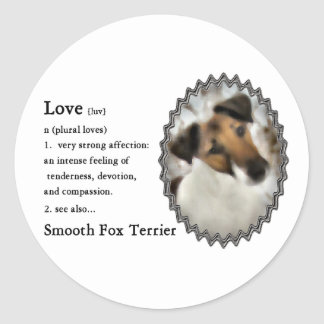 Smooth Fox Terrier Gifts Classic Round Sticker