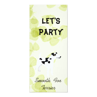 Smooth  Fox Terrier ~ Green Leaves Design Card