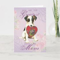 Smooth Fox Terrier Heart Mom Card