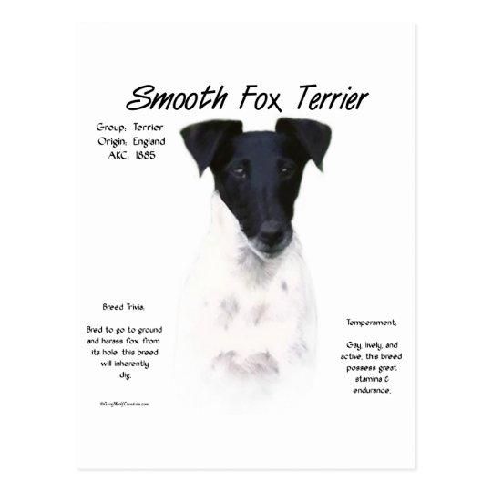 Smooth Fox Terrier History Design Postcard
