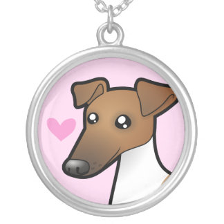 Smooth Fox Terrier Love Silver Plated Necklace